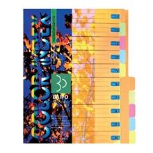 รูปภาพของ อินเด็กซ์กระดาษการ์ด ใบโพธิ์ 10 หยัก A4 คละสี