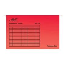 รูปภาพของ แฟ้มแขวน เอลเฟ่น 555 F4 สีแดง(แพ็ค 10 เล่ม)