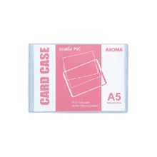รูปภาพของ ซองเอกสารพลาสติกแข็ง อโรม่า PVC สีใส ขนาด A5