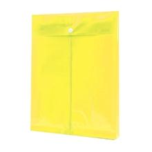 รูปภาพของ ซองกระดุมพลาสติก ออร์ก้า A4 แนวตั้ง ขยายข้าง สีเหลือง (แพ็ค 12 เล่ม)