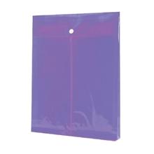 รูปภาพของ ซองกระดุมพลาสติก ออร์ก้า A4 แนวตั้ง ขยายข้าง สีม่วง (แพ็ค 12 เล่ม)