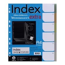 รูปภาพของ อินเด็กซ์พลาสติกOrca SP-701 6 หยักคละสีใส (แพ็ค 6 แผ่น)