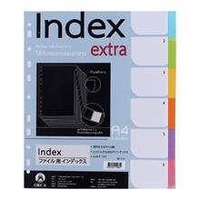 รูปภาพของ อินเด็กซ์พลาสติกOrca SP-711 6 หยักคละสีทึบ (แพ็ค 6 แผ่น)