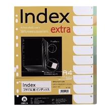 รูปภาพของ อินเด็กซ์พลาสติกOrca SP-703 10 หยักคละสีใส (แพ็ค 10 แผ่น)