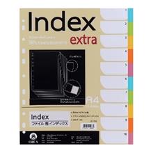รูปภาพของ อินเด็กซ์พลาสติกOrca SP-713 10 หยักคละสีทึบ (แพ็ค 10 แผ่น)