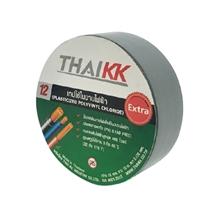 รูปภาพของ เทปพันสายไฟ THAIKK ขนาด 18 มม. x 10 ม. สีเทา