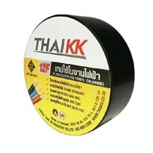 รูปภาพของ เทปพันสายไฟ THAIKK ขนาด 19 มม. x 10 ม. สีดำ (มี มอก.)