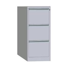 รูปภาพของ ตู้ลิ้นชักเหล็กเก็บแฟ้มแขวน 3ชั้น MET-F03 สีเทาขาว