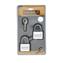 รูปภาพของ กุญแจแขวนมาสเตอร์คีย์ KRUKER คอสั้น 40มม 2ตัว/ชุด