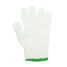 รูปภาพของ ถุงมือผ้าทอ 4 ขีด สีขาวขอบเขียว (แพ็ค 12 คู่)
