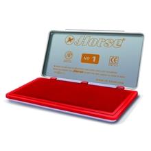 รูปภาพของ แท่นประทับ ตราม้า เบอร์ 1 7.4x15 ซม. สีแดง