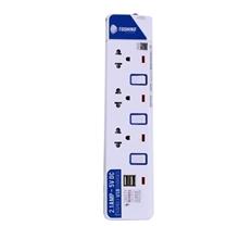 รูปภาพของ ปลั๊กไฟ TOSHINO ET-913U 3 ช่อง 3 สวิทซ์ 2 USB 3 เมตร (มอก.)