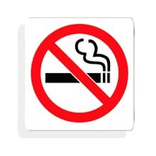 """รูปภาพของ ป้ายข้อความอะคริลิค Plango สัญลักษณ์ห้ามสูบบุหรี่ 4x4"""""""