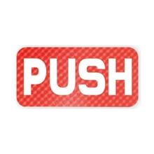 """รูปภาพของ ป้ายข้อความอะคริลิก Plango PUSH SC712 3x6"""""""