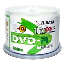 รูปภาพของ แผ่น DVD-R RiDATA Printable 16X (แพ็ค 50 แผ่น)