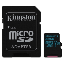 รูปภาพของ Kingston MicroSDXC Class 10 UHS-I U3 64 GB (SDCG2/64GB)