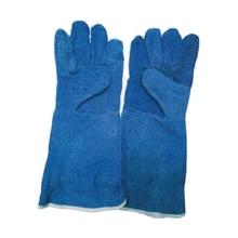 รูปภาพของ ถุงมือหนังวัว ยาว 16 นิ้ว TONGA Free Size สีน้ำเงิน