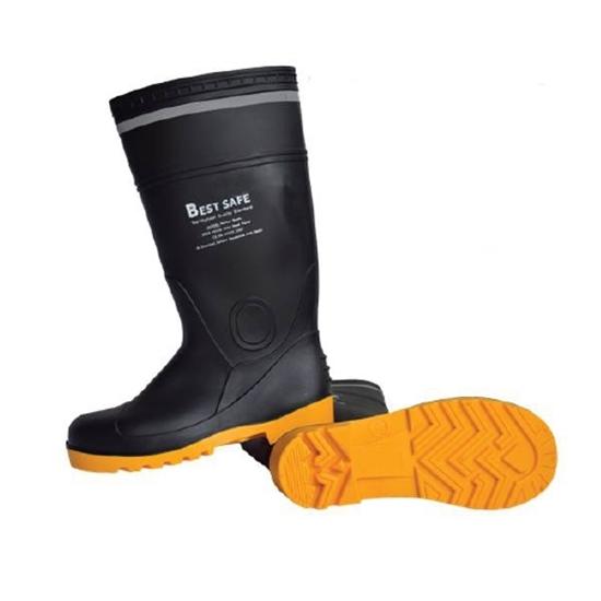 รูปภาพของ รองเท้าบู๊ตหัวเหล็กพื้นเสริมสเตนเลสรุ่น Perfect Boots เบอร์ 41 สีดำ