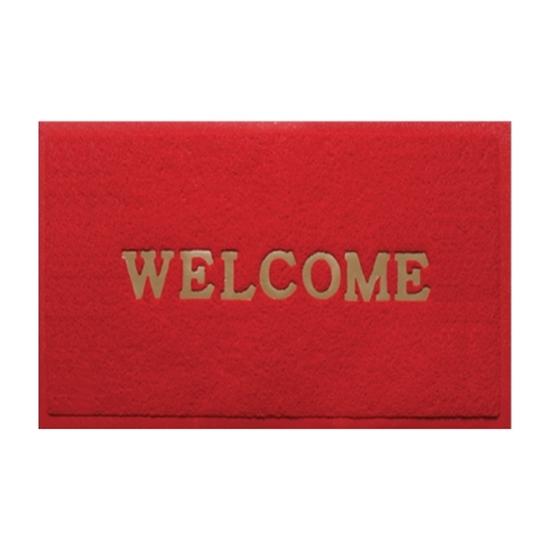 รูปภาพของ พรมเช็ดเท้าไวนิล Welcome WSP รุ่น BMX-212/701 120X180 ซม. สีแดง