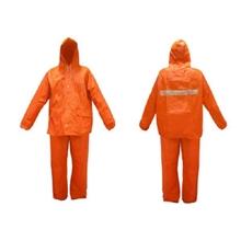 รูปภาพของ ชุดกันฝนมีแถบสะท้อนแสง Free Size สีส้ม