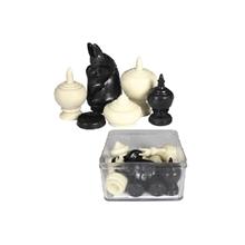 รูปภาพของ ตัวหมากรุกมัน สีดำ/ขาว