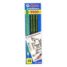 รูปภาพของ ดินสอเขียนแบบ ตราม้า H-9900 2B(กล่อง 12 แท่ง)