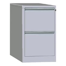 รูปภาพของ ตู้ลิ้นชักเหล็กเก็บแฟ้มแขวน 2ชั้น MET-F02 สีเทาขาว
