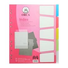 รูปภาพของ อินเด็กซ์พลาสติก ORCA BC909 A4 5หยัก คละสี แพ็ค 5 แผ่น