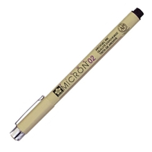 รูปภาพของ ปากกาหัวเข็ม พิกม่า XSDK ซากุระ 0.2มม.ดำ