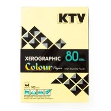 รูปภาพของ กระดาษสีถ่ายเอกสาร KTV 80/500 A4 สีเหลืองเข้ม