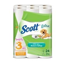 รูปภาพของ กระดาษม้วนเล็ก Scott Extra แคร์จัมโบ้ 3 ชั้น ( แพ็ค24ม้วน )
