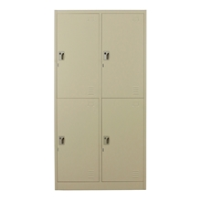 รูปภาพของ ตู้ล็อกเกอร์บานเปิด 4 ประตู METAL PRO MET-6104N สีครีม