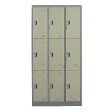 รูปภาพของ ตู้ล็อกเกอร์บานเปิด 9 ประตู METAL PRO MET-6109N สีเทา