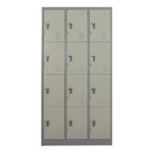 รูปภาพของ ตู้ล็อกเกอร์บานเปิด 12 ประตู METAL PRO MET-6112N สีเทา