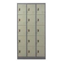 รูปภาพของ ตู้ล็อกเกอร์บานเปิด 15 ประตู METAL PRO MET-6115N สีเทา
