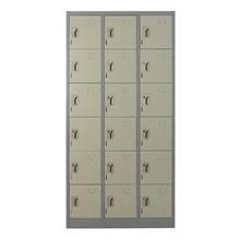 รูปภาพของ ตู้ล็อกเกอร์บานเปิด 18 ประตู METAL PRO MET-6118N สีเทา