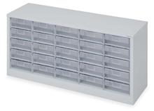 รูปภาพของ ตู้เก็บอะไหล่ TOOLMAX CBL0505N 5ชั้น25ช่องใส 1080X307X485mm. สีเทา