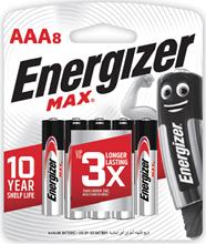 รูปภาพของ ถ่านอัลคาไลน์ Energizer MAX-E92 AAA 1.5 โวลต์ แพ็ค 8