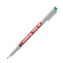 รูปภาพของ ปากกาเขียนแผ่นใส EDDING 152M 1.0มม. ลบได้ สีเขียว