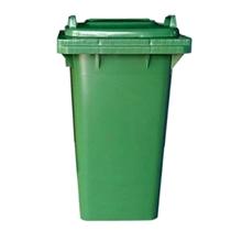 รูปภาพของ ถังขยะสี่เหลี่ยม 120 ลิตร 2 ล้อ ฝาเรียบ สีเขียว