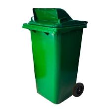 รูปภาพของ ถังขยะสี่เหลี่ยม 120 ลิตร 2 ล้อ เจาะช่องT สีเขียว