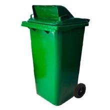 รูปภาพของ ถังขยะสี่เหลี่ยม 240 ลิตร 2 ล้อ เจาะช่องT สีเขียว