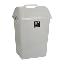 รูปภาพของ ถังขยะสี่เหลี่ยมฝาสวิง KEEP IN RW9258 (40 ลิตร) สีใส