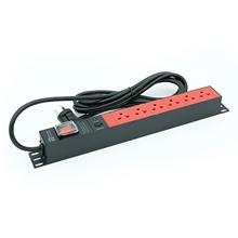 รูปภาพของ ปลั๊กไฟ Power Connex PXC5PHTNS-TS06 6 ช่อง 1 สวิทซ์ 3 เมตร แดง