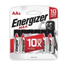 รูปภาพของ ถ่านอัลคาไลน์ ENERGIZER แม็กซ์ E91-BP6 AA (แพ็ค 6 ก้อน)