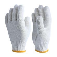 รูปภาพของ ถุงมือมือผ้าทอ 7 ขีด สีขาวขอบเหลือง (แพ็ค 12 คู่)
