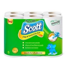 รูปภาพของ กระดาษเช็ดอเนกประสงค์ Scott ทาวเวล Pick A Size (แพ็ค6 ม้วน) สีเขียว