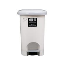 รูปภาพของ ถังขยะเหลี่ยมขาเหยียบ KEEP IN RW9263(10 ลิตร) สีครีมฝาเทา