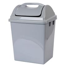 รูปภาพของ ถังขยะพร้อมฝา บาสเก็ต 523 DC สีเทา (14.15 ลิตร)