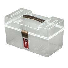 รูปภาพของ กล่องพลาสติกใส่อุปกรณ์ปฐมพยาบาล RW8311 (13.2x22.6x13cm)สีขาวใส